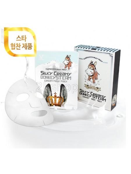 Elizavecca Silky Creamy donkey Steam Cream Mask Pack  Маска тканевая с паровым кремом