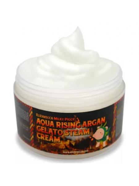 Elizavecca Aqua Rising Argan Gelato Steam Cream  Крем паровой увлажняющий