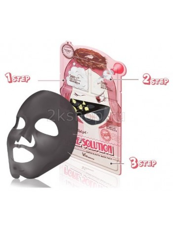 Elizavecca  3-step Pore Solution Mask Pack 3-шаговая маска для лица для проблемной кожи