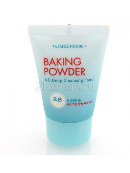 Пенка для умывания для снятия ББ крема с содой  Etude house Baking Powder BB Deep Cleansing Foam
