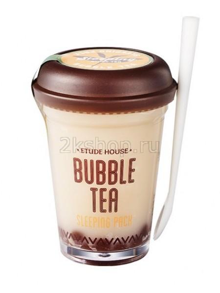 Etude house Bubble Tea Sleeping Pack Black Tea Маска ночная для лица с экстрактом черного чая