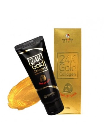 Маска-пленка очищающая с 24к золотом Eyenlip 24K Gold  Collagen Peel Off Pack 100 гр