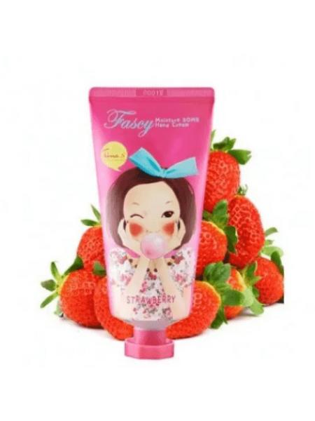 Крем для рук с клубникой Fascy Moisture Bomb Hand Cream Strawberry