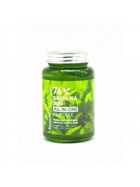 Многофункциональная ампульная сыворотка с зеленым чаем FarmStay  76 Green Tea All-In-One Ampoule