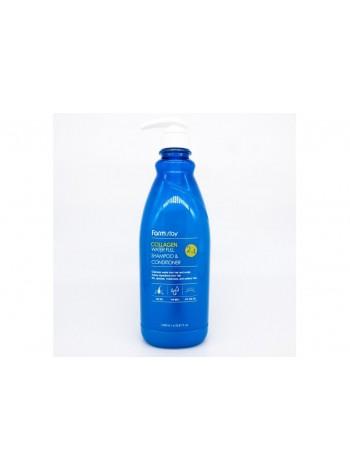 FarmStay Collagen Water Full Shampoo&Conditioner Шампунь-кондиционер увлажняющий с коллагеном