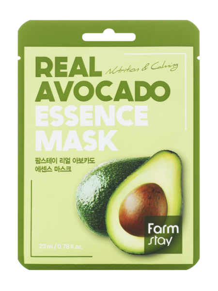 FarmStay Real Avocado Essence Mask Тканевая маска для лица с экстрактом авокадо