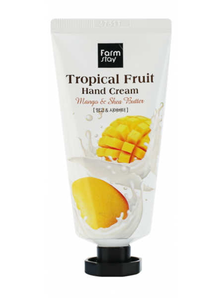 Крем для рук  с маслом ши  и  мангоFarmStay Tropical Fruit Hand Cream Mango & Shea Butter