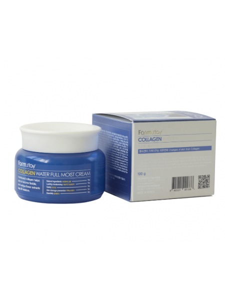 Farmstay Collagen Water Full Moist Cream Увлажняющий крем с коллагеном