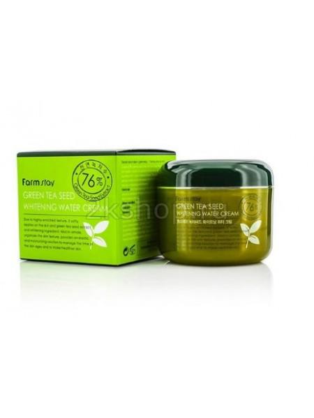 FarmStay Green Tea Seed Whitening Water Cream Увлажняющий осветляющий крем с семенами зеленого чая