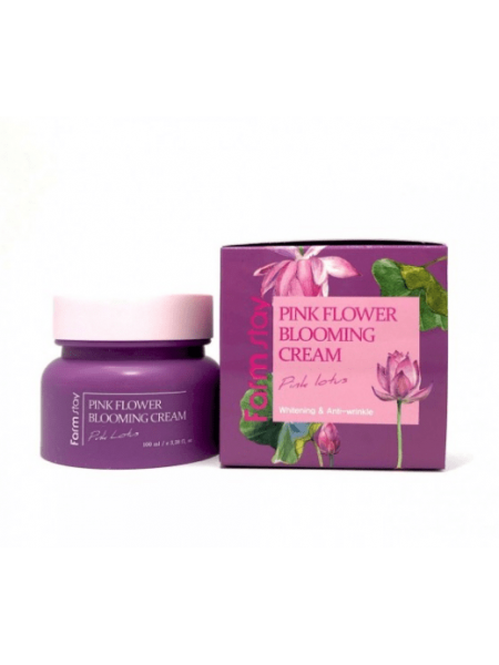 Farmstay  Крем для лица с экстрактом лотоса Pink flower blooming cream pink lotus