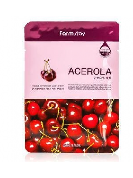 FarmStay Visible Difference Acerola Тканевая маска с экстрактом ацеролы