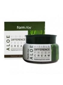 FarmStay Aloe Visible Difference Fresh Cream Увлажняющий  крем для лица  с экстрактом алоэ