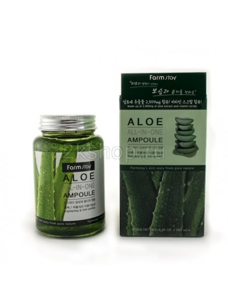 Многофункциональная сыворотка с экстрактом алоэ FarmStay Aloe All-in-one Ampoule