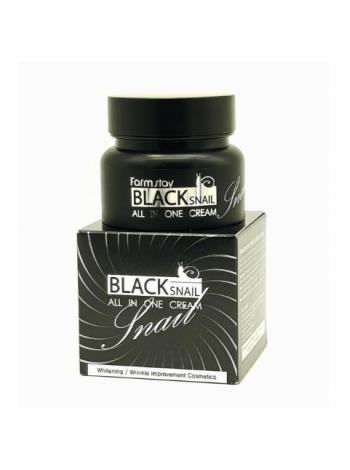 FarmStay Black Snail All In One Cream Крем для лица с муцином черной улитки