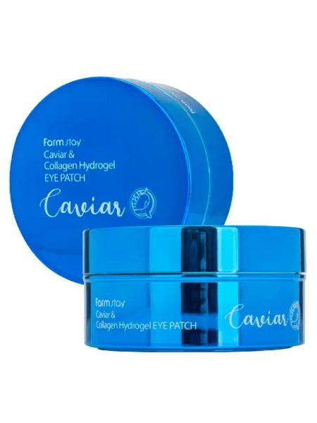 Гидрогелевые патчи для области вокруг глаз с икрой и коллагеном  FARMSTAY Caviar & Collagen Hydrogel Eye Patch