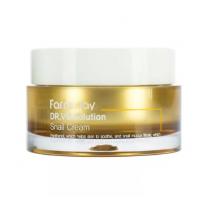 FarmStay Dr-V8 Solution Snail Cream Успокаивающий крем с муцином улитки и пантенолом