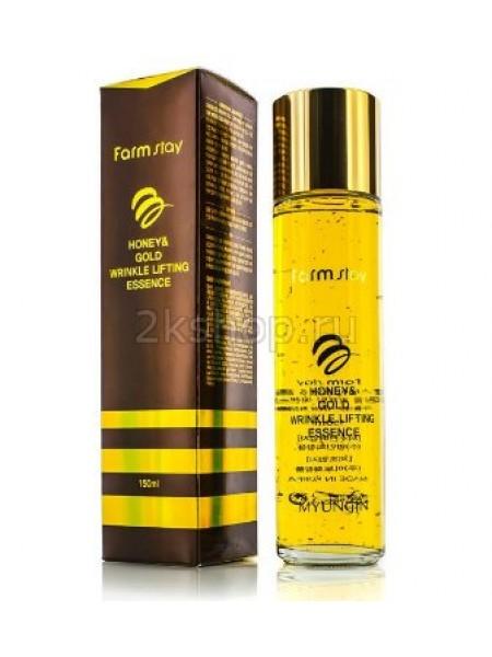 FarmStay Honey & Gold wrinkle lifting essence Эссенция с экстрактом золото и меда.