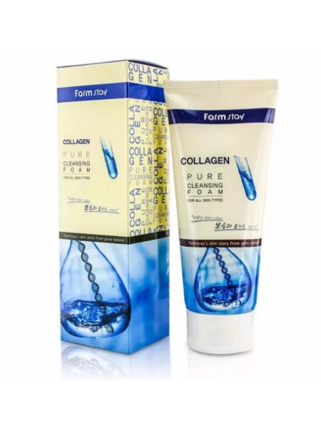 FarmStay Collagen Pure Cleansing Foam Пенка для умывания  с коллагеном