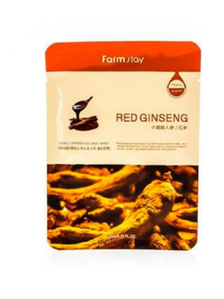 FarmStay Visible Difference Mask Sheet Red Ginseng Тканевая маска с экстрактом корня красного женьшеня