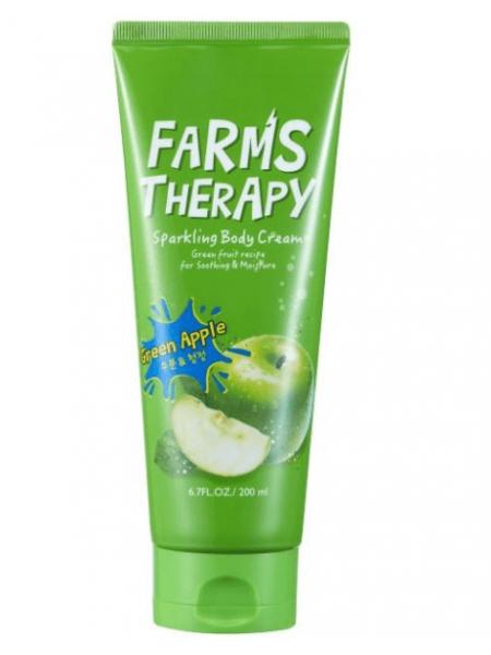 Farms therapy Sparkling Body Cream Green Apple Крем для тела Зеленое яблоко