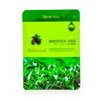 FarmStay Visible Difference Green Tea Seed Тканевая маска с натуральным экстрактом семян зеленого чая