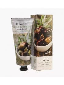 FarmStay Vsible Differerce Hand Cream Olivel  Питательный крем для рук с экстрактом оливы