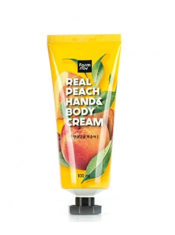 Крем для рук и тела с персиком FarmStay Real Peach Hand & Body Cream