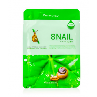 FarmStay Visible Difference Mask Sheet Snail Тканевая маска с муцином улитки