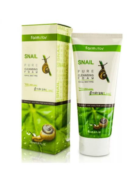 Пенка  с экстрактом улитки FarmStay Snail Pure Cleansing Foam