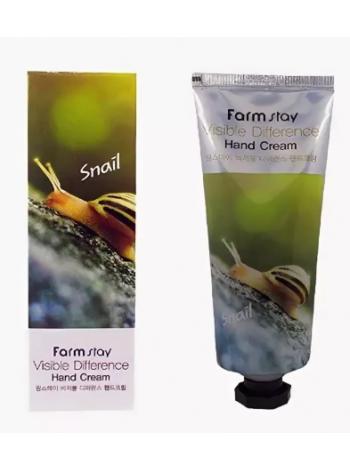 FarmStay Vsible Differerce Hand Cream Snail  Крем для рук с муцином улитки