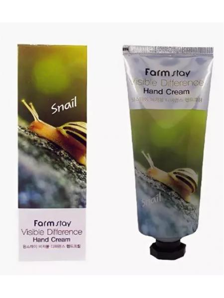 Крем для рук с муцином улитки FarmStay Vsible Difference Hand Cream Snail