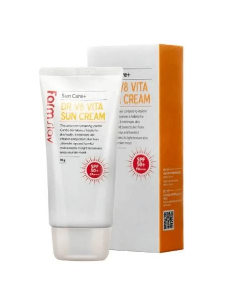 FarmStay Солнцезащитный крем для лица с витаминным комплексом SPF 50+ PA+++ DR-V8 VITA, 70г