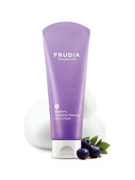 Frudia Blueberry Hydrating Cleansing Gel To Foam Увлажняющая гель-пенка для умывания с черникой
