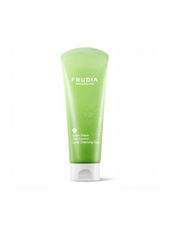 Frudia Green Grape Pore Control  Scrub Cleansing Foam Пенка-скраб для сужения пор  с зеленым виноградом