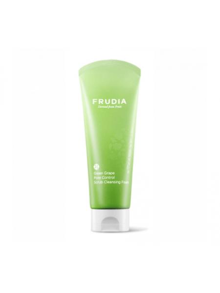 Пенка-скраб для сужения пор  с зеленым виноградом Frudia Green Grape Pore Control  Scrub Cleansing Foam