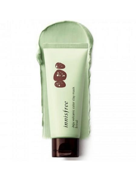 Innisfree Volcanic Color Clay Mask CICA_GREEN Зеленая очищающая маска с вулканической глиной