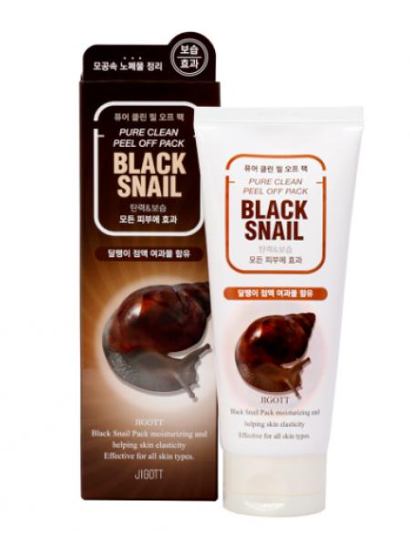 Jigott Black Snail Pure Clean Peel Off Pack Очищающая маска-пленка с экстрактом слизи черной улитки