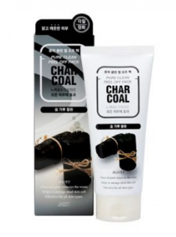 Jigott Charcoal Pure Clean Peel Off Pack Очищающая маска-пленка с древесным углем