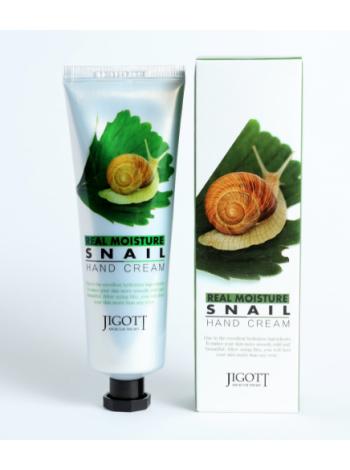 Jigott Real Moisture Snail Hand Cream/Real Moisture Крем для рук с экстрактом улитки