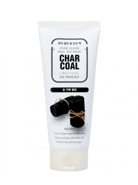 Jigott  Premium facial Charcoal Peeling Gel  Премиум пилинг скатка с древесным углем