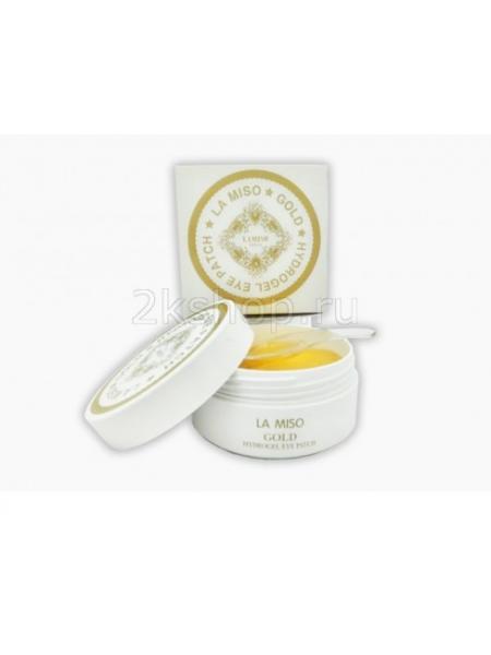 La Miso Гидрогелевые патчи для  глаз  с частицами золота Gold Hydrogel Eye Patch