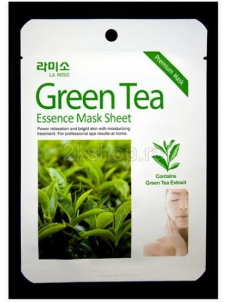 La Miso Green Tea Essence Mask Маска с экстрактом зеленого чая