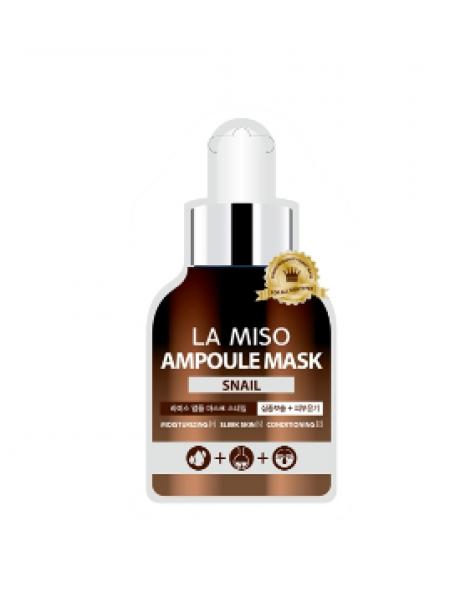 La Miso Ampoule mask Snail  Ампульная маска с экстрактом слизи улитки