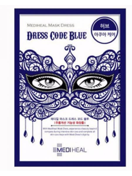 Mediheal Mask Dress Dress Code Blue Увлажняющая тканевая маска для лица