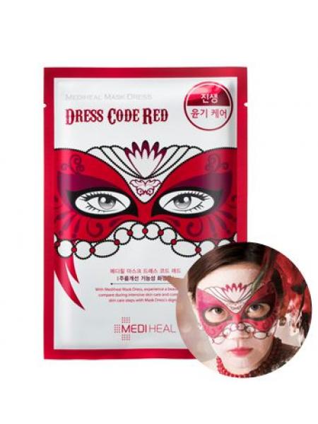 Mediheal Mask Dress Dress Code Red Увлажняющая тканевая маска для лица Красный