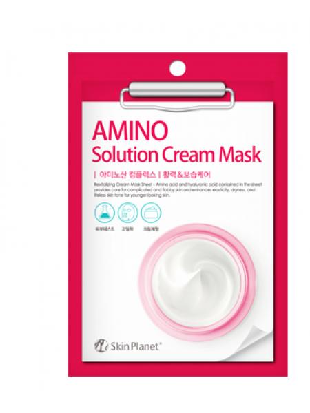 Mijin Skin Planet AMINO solution Cream Mask Тканевая кремовая маска с аминокислотами