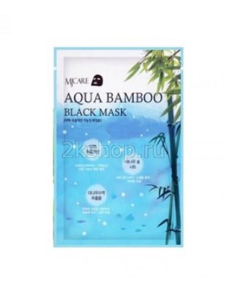 Mijin MJ AQUA BAMBOO Black Mask  Увлажняющая черная тканевая маска Бамбук