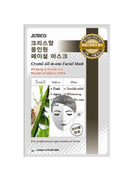 Mijin Junico Crystal All-In-One Facial Mask Snail  Тканевая маска с экстрактом улитки