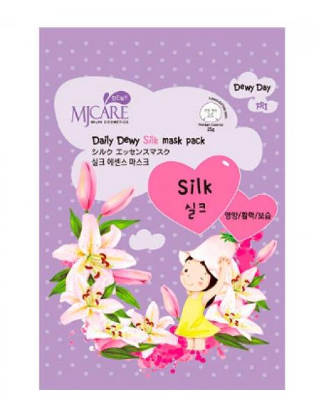 Mijin MJ Care Daily Silk mask pack Маска тканевая с аминокислотами шелка