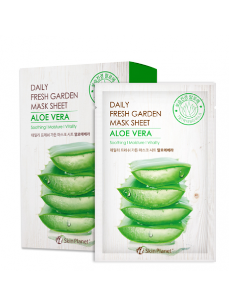Mijin Daily Fresh Skin Planet daily fresh garden mask sheet ALOE VERA Тканевая маска для лица Алое вера